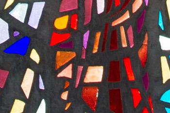 detail van kerkramen