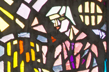 Detail van kerkramen.